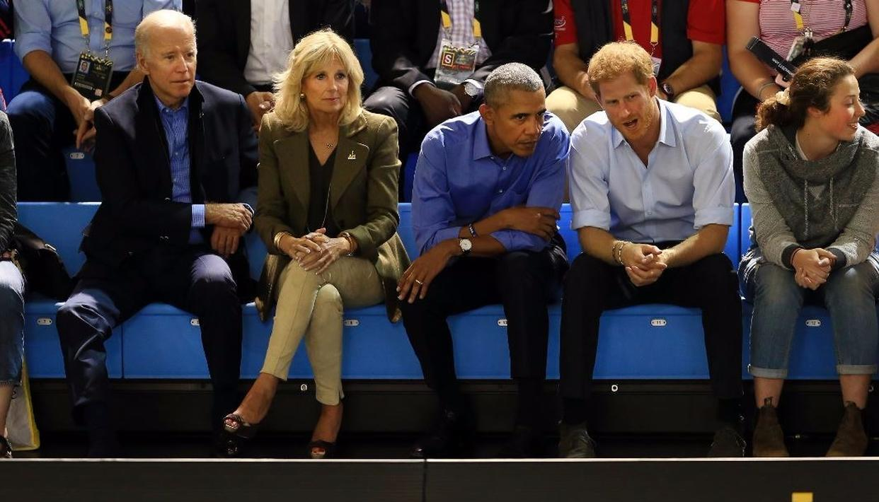 Former president Obama, the Bidens and Harry reunite on day 7 of Invictus games Credit: Getty Images