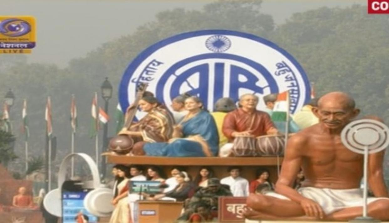 All India Radio (AIR) showcased its tableau for the first time in the Republic Day parade