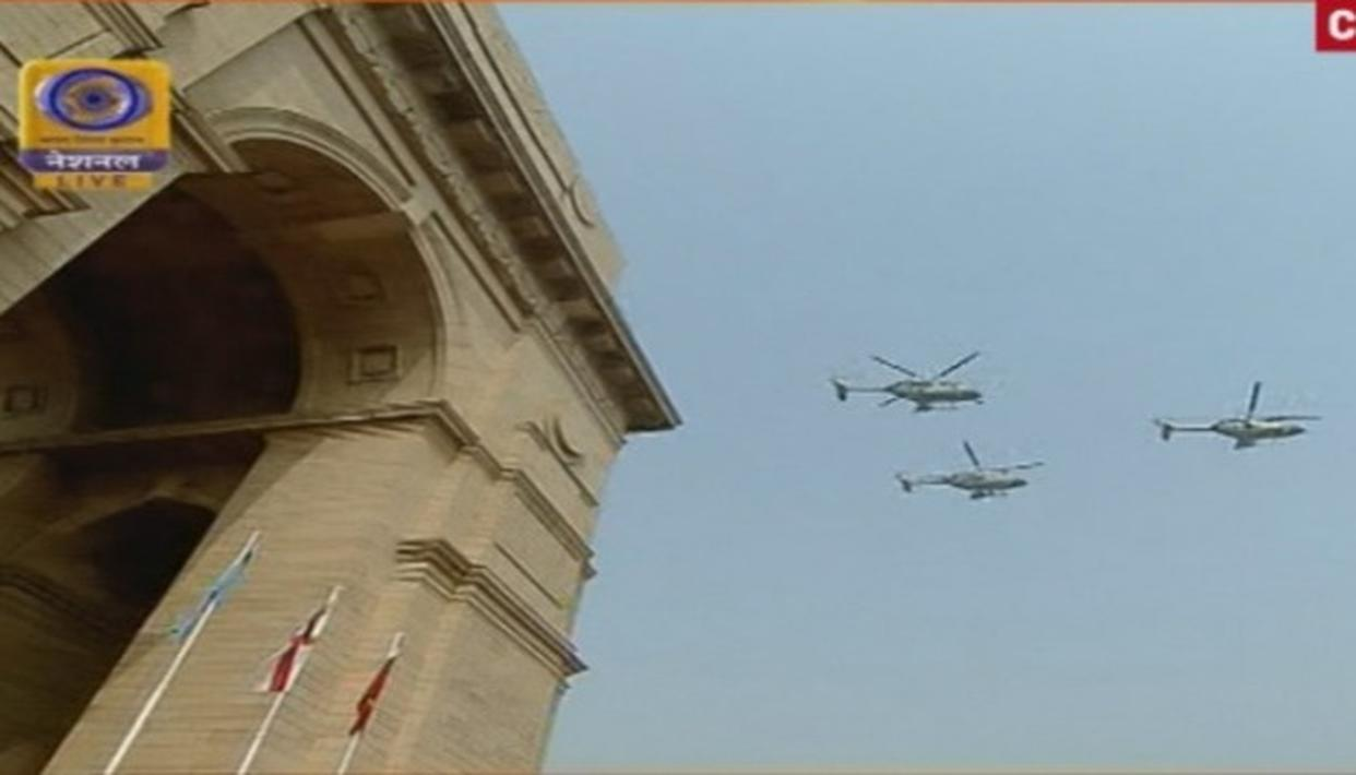 Global Formation by C-17 globemaster at the 69th Republic Day parade