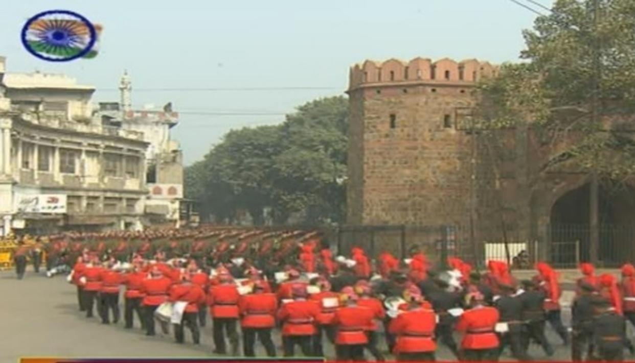 Republic Day Celebration ends at Rajpath with the Parade marching towards Delhi Gate