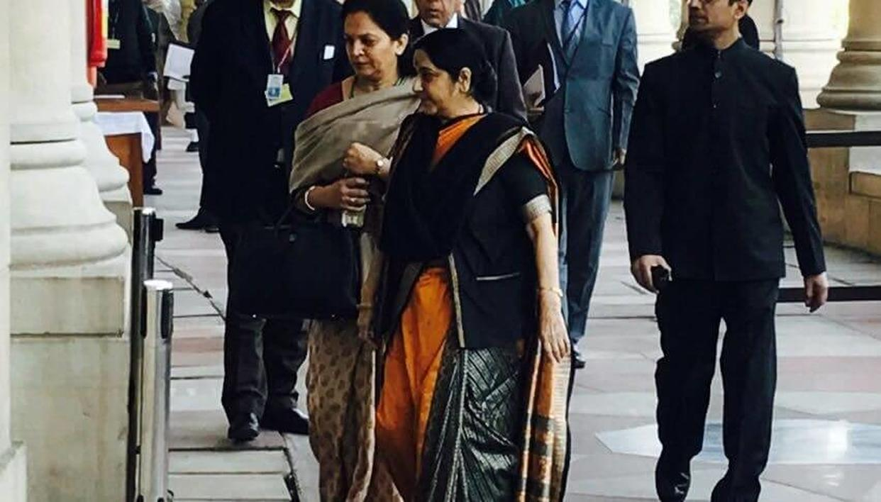 Sushma Swaraj, Minister of External Affairs of India, marked her presence in the Budget session 2018