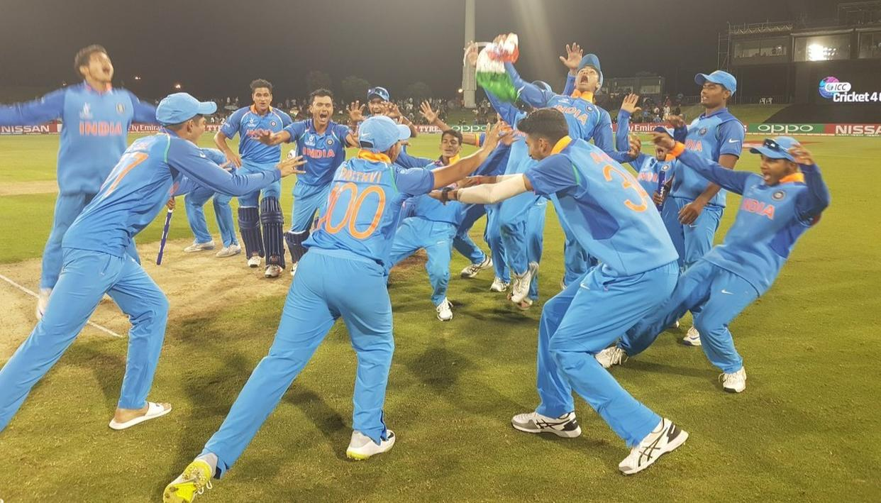This is the fourth time the Indian U19 team have won the World Cup