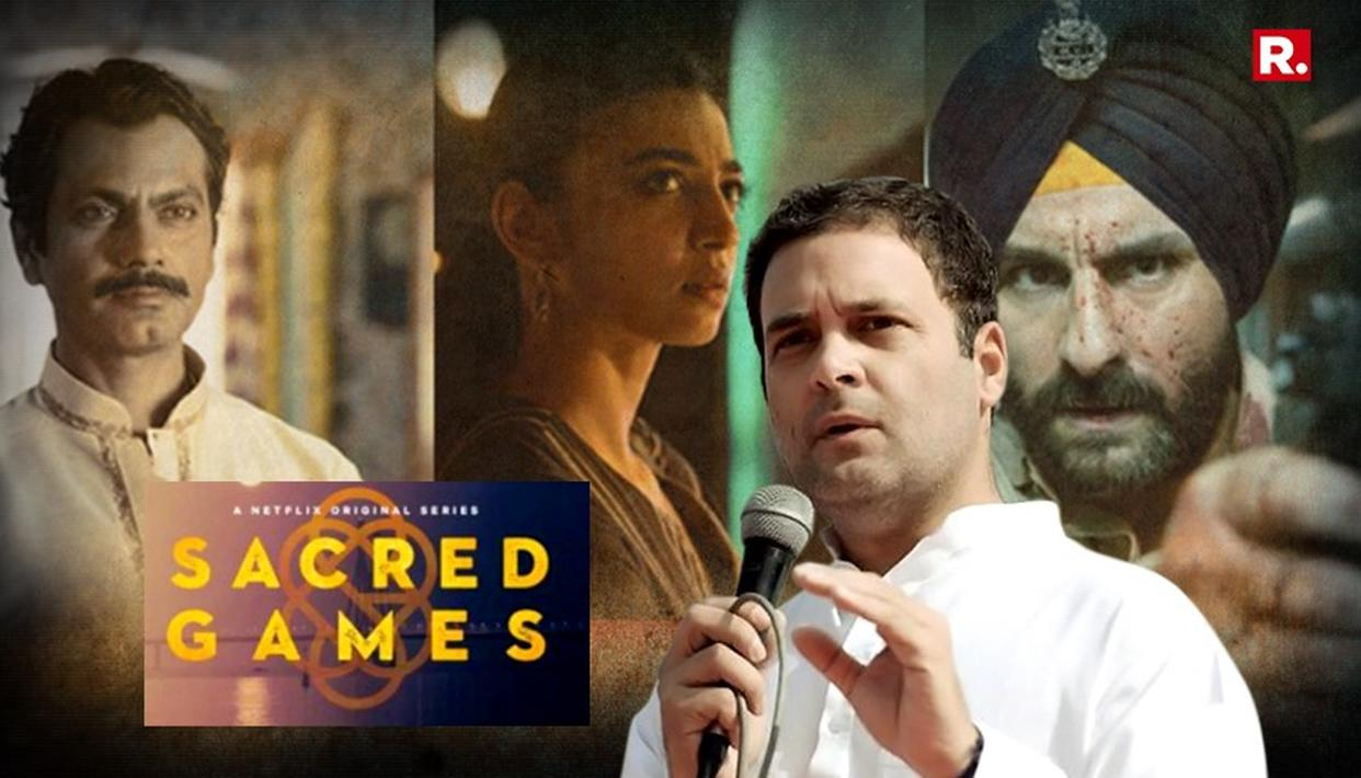 Kolkata Congressmen's complaint against Sacred Games.