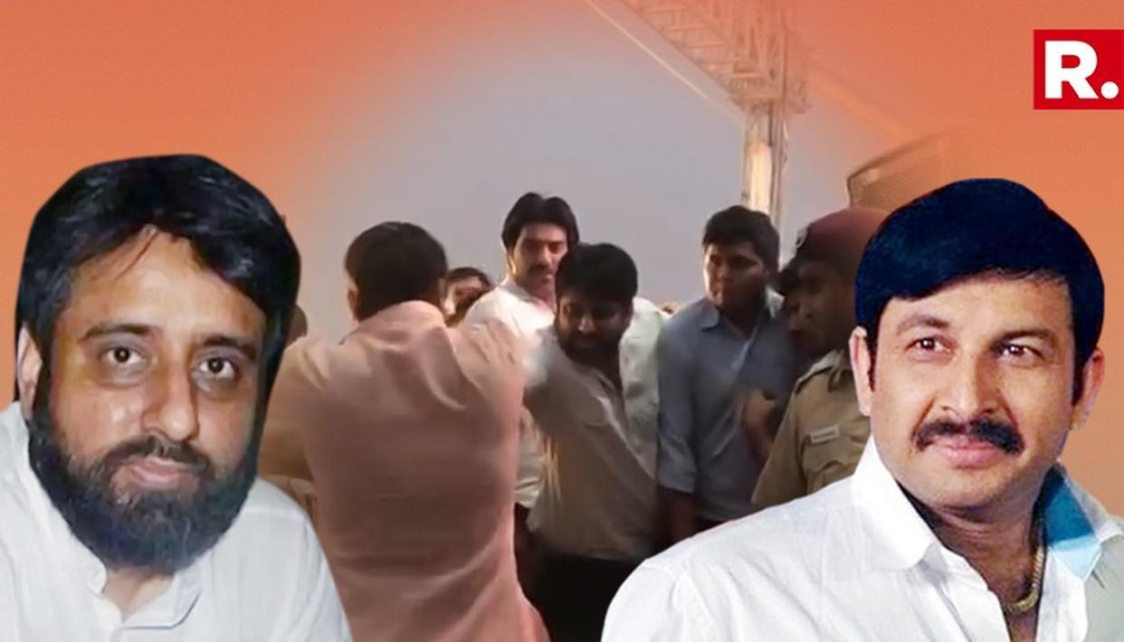 Amanatullah Khan and Manoj Tiwari
