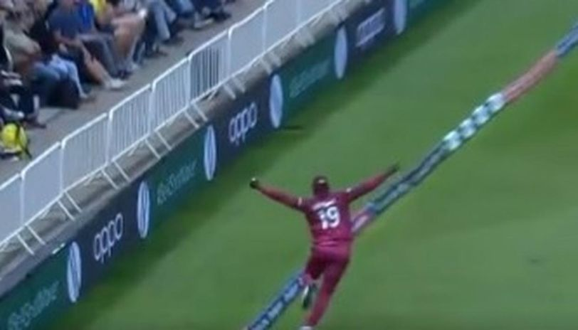 The Cottrell Catch  Image Courtesy: ICC via Twitter