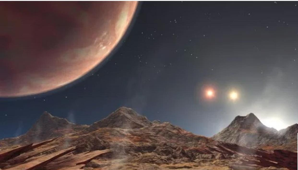 Artist's illustration of exoplanet with 3 suns (Photo: NASA JPL)