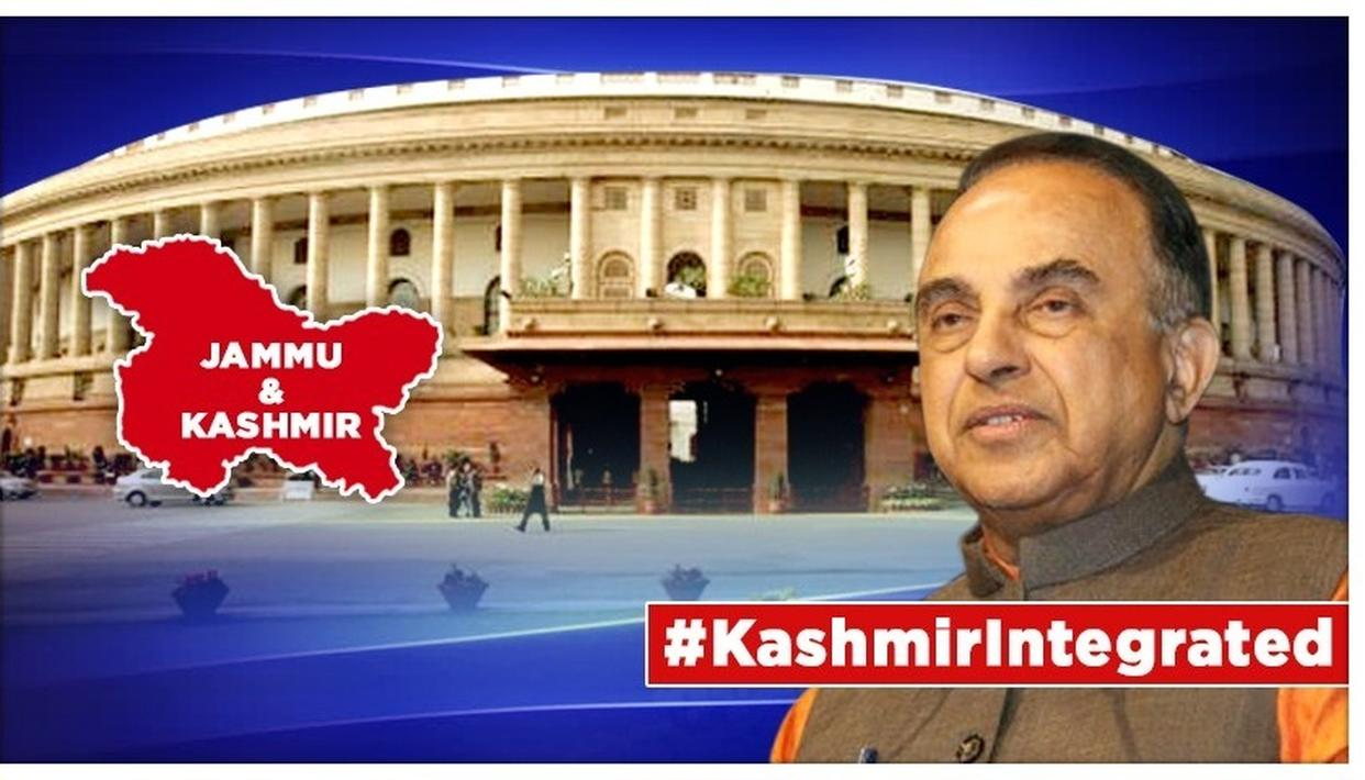 BJP MP Subramaninan Swamy said he was right that there was no need for a Constitutional Amendment to repeal Article 370.