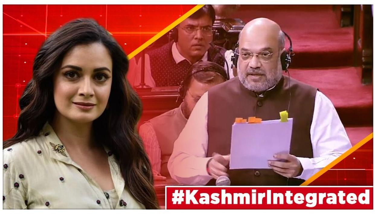 After Amit Shah proposes revocation of Article 370 in J&K, Dia Mirza puts out post wishing peace & prosperity to the bifurcated union territories