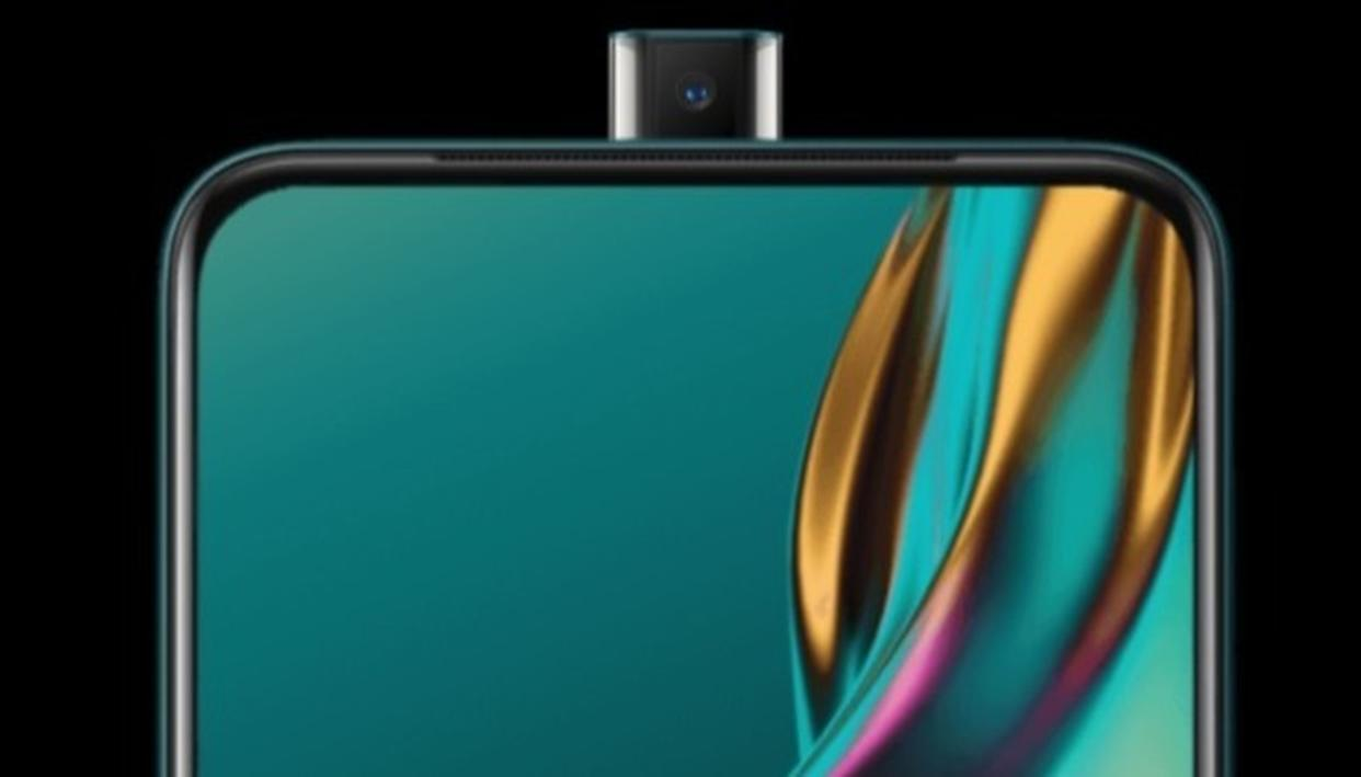 A front view of the Oppo K3 with its