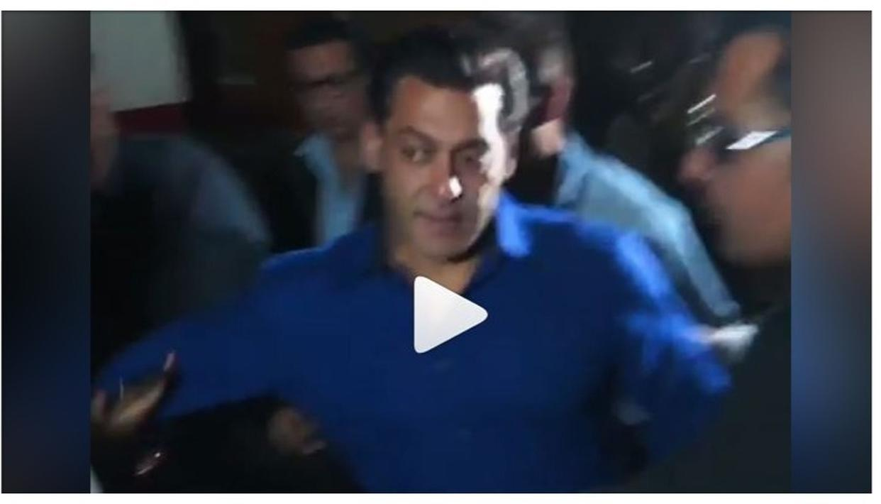 Video of Salman Khan's displeasure at being pulled by a fan went viral.