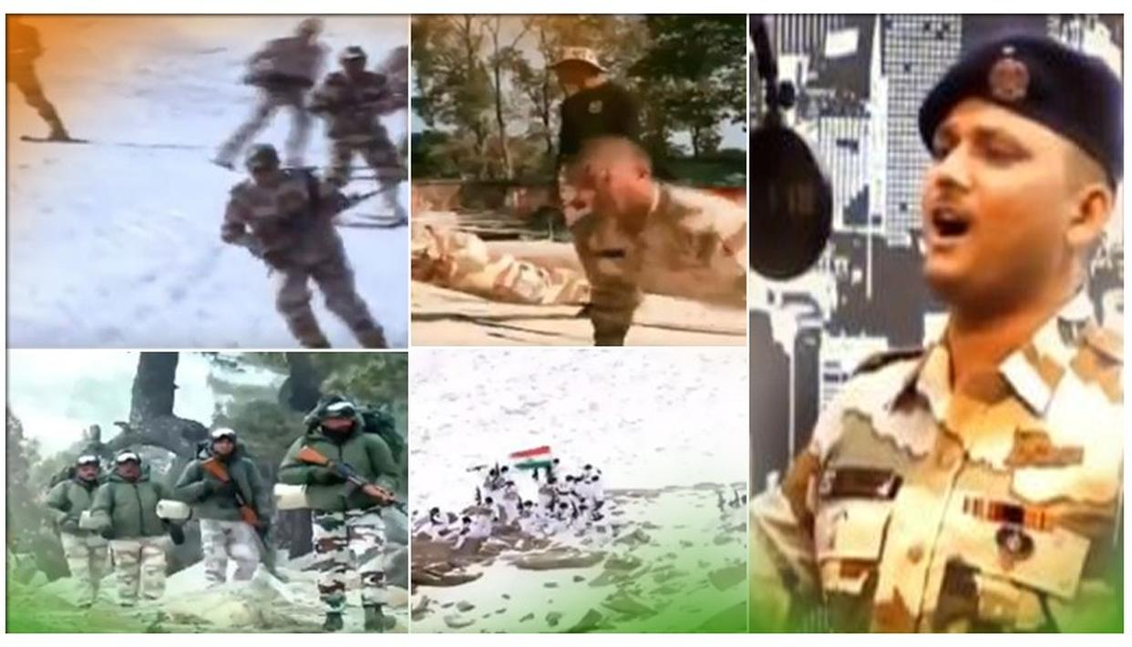 ITBP Jawan Lovely Singh recreates Border's iconic song 'Sandese Aate Hai'