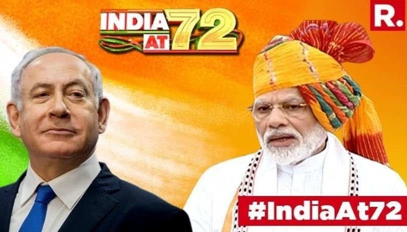 Prime Minister of Israel,Benjamin Netanyahu in a heartfelt video wishedPrime Minister Narendra Modi and the citizens of India, a 'Happy Independence Day'.