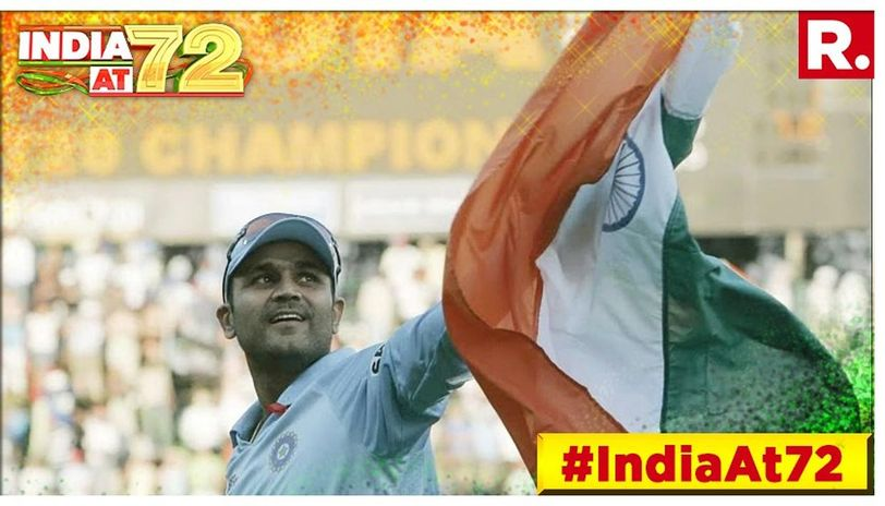 Viru had also posted a picture of him waving the national flag after India had won the inaugural edition of ICC World T20 back in 2007.