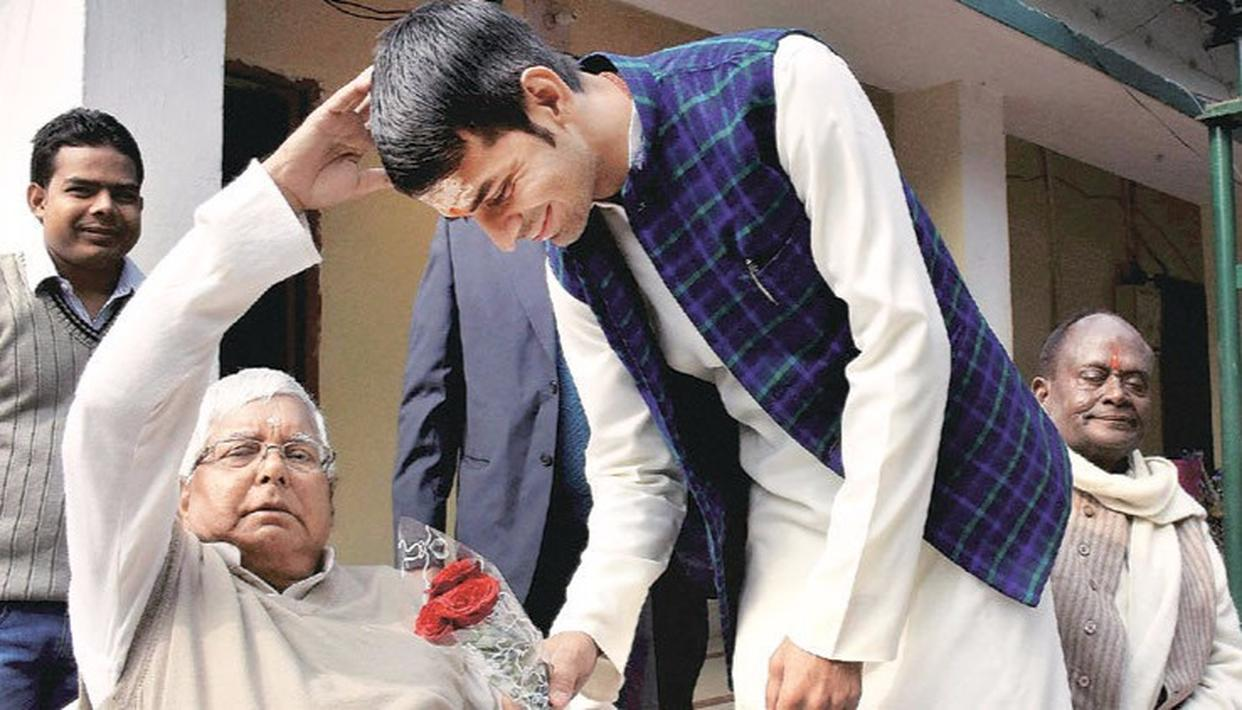 LALU & SON EMBARRASSED