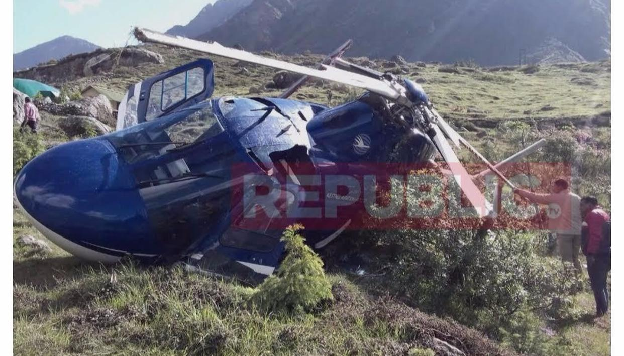 Chopper crash in Badrinath