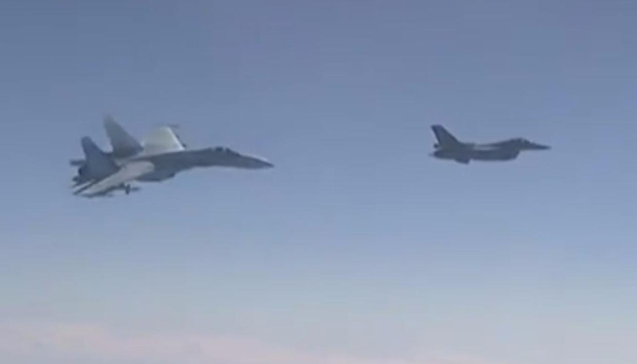 Russian, NATO fighters in mid-air face-off