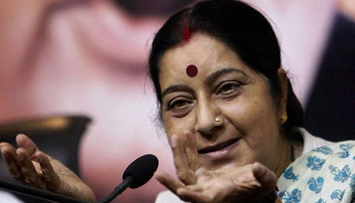 SUSHMA SWARAJ HITS OUT AT SARTAJ AZIZ