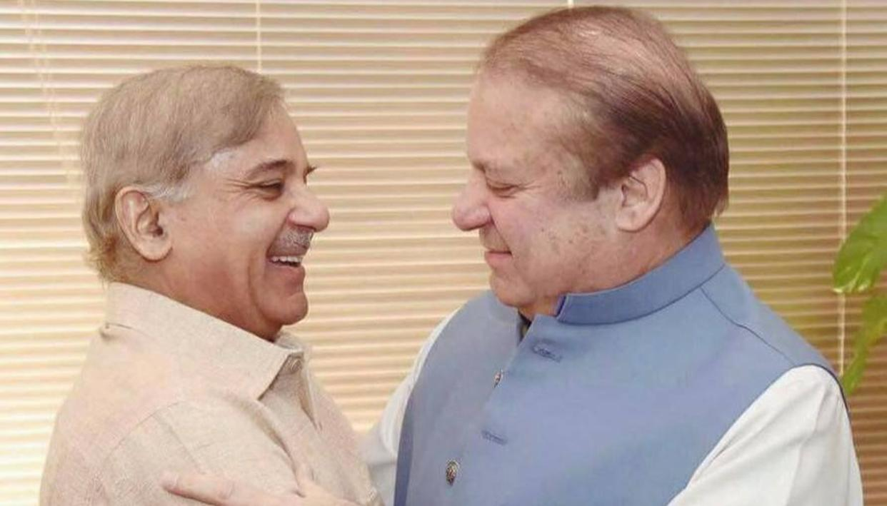 NAWAZ OUT; BROTHER SHEHBAZ IN