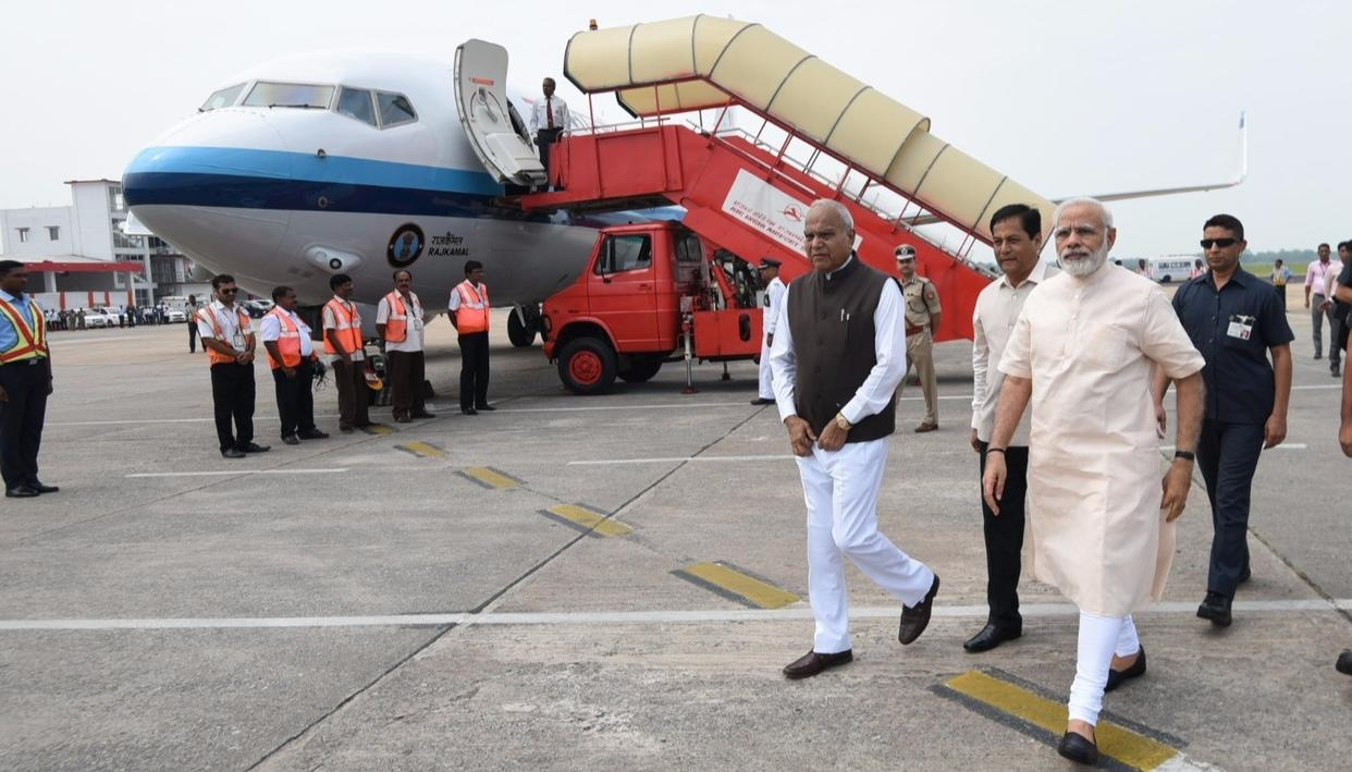 PM Modi arrives in Assam to take stock of flood situation