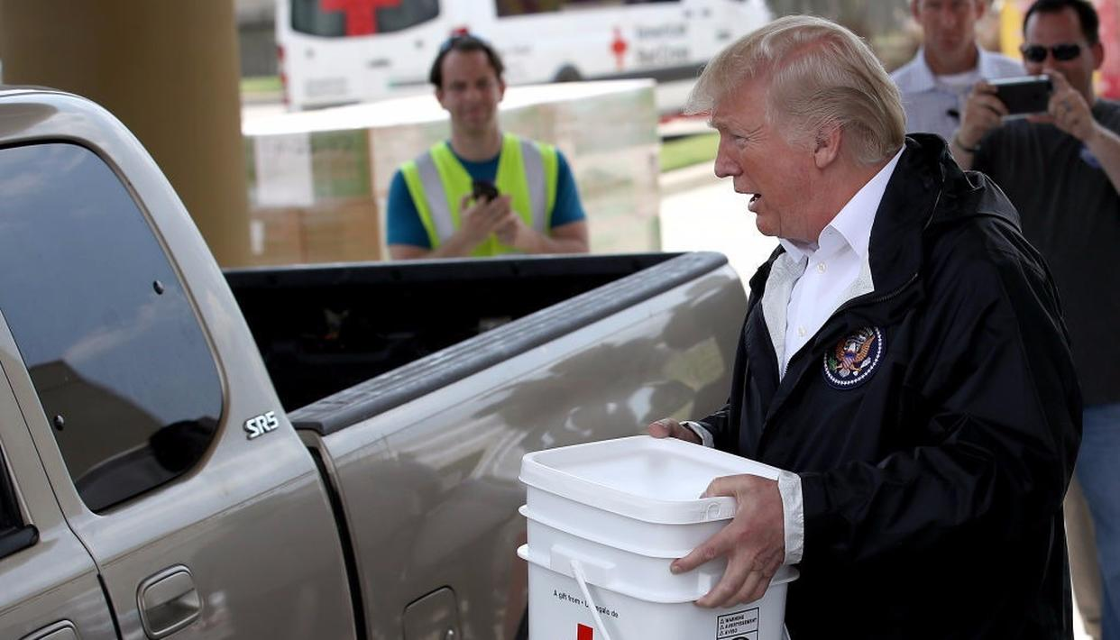 'Build the wall' takes back seat to rebuilding after Harvey
