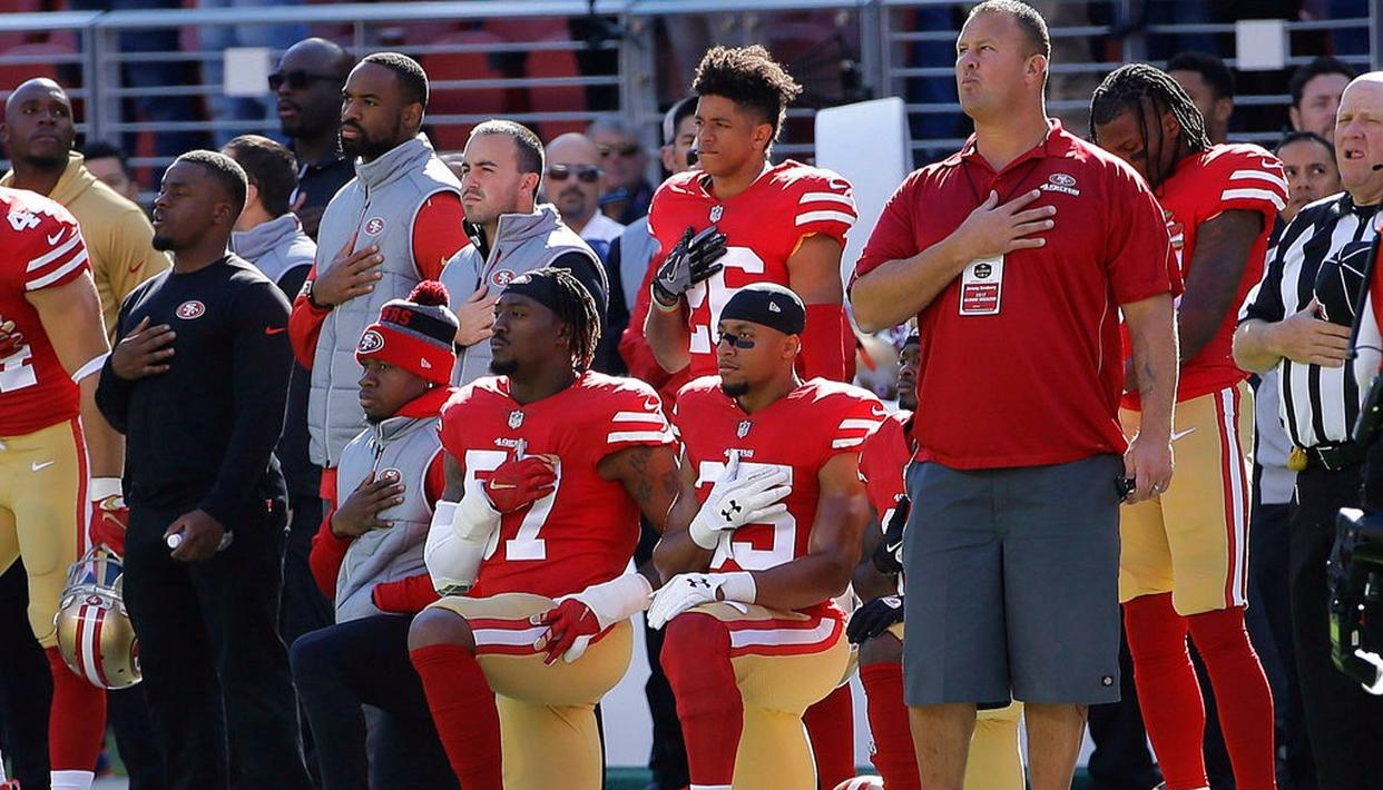 NFL NATIONAL ANTHEM PROTEST CONTINUES