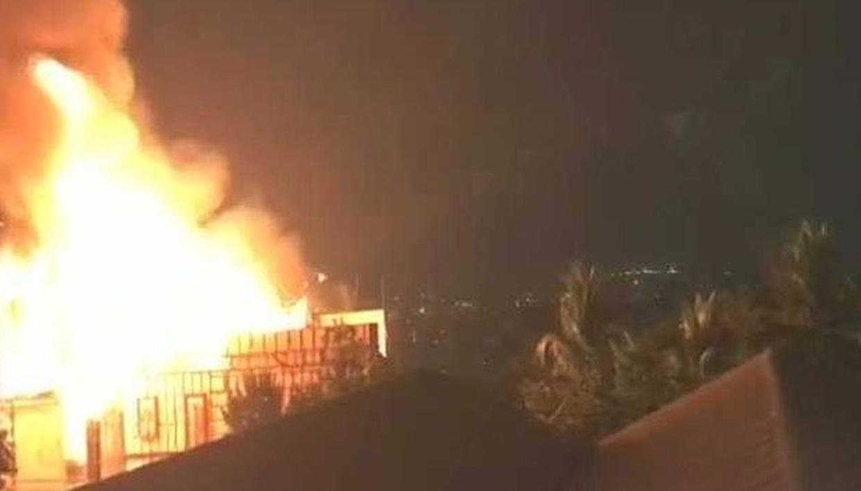FIRE AT A HYDERABAD STUDIO