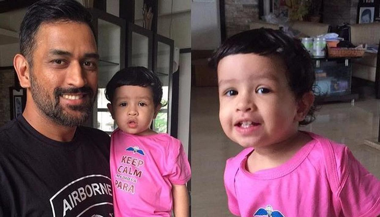 DHONI'S DAUGHTER SINGS A MALAYALAM SONG