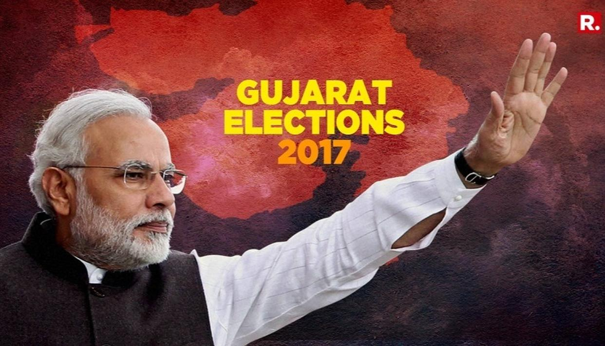 BJP STORMS BACK TO POWER IN GUJ
