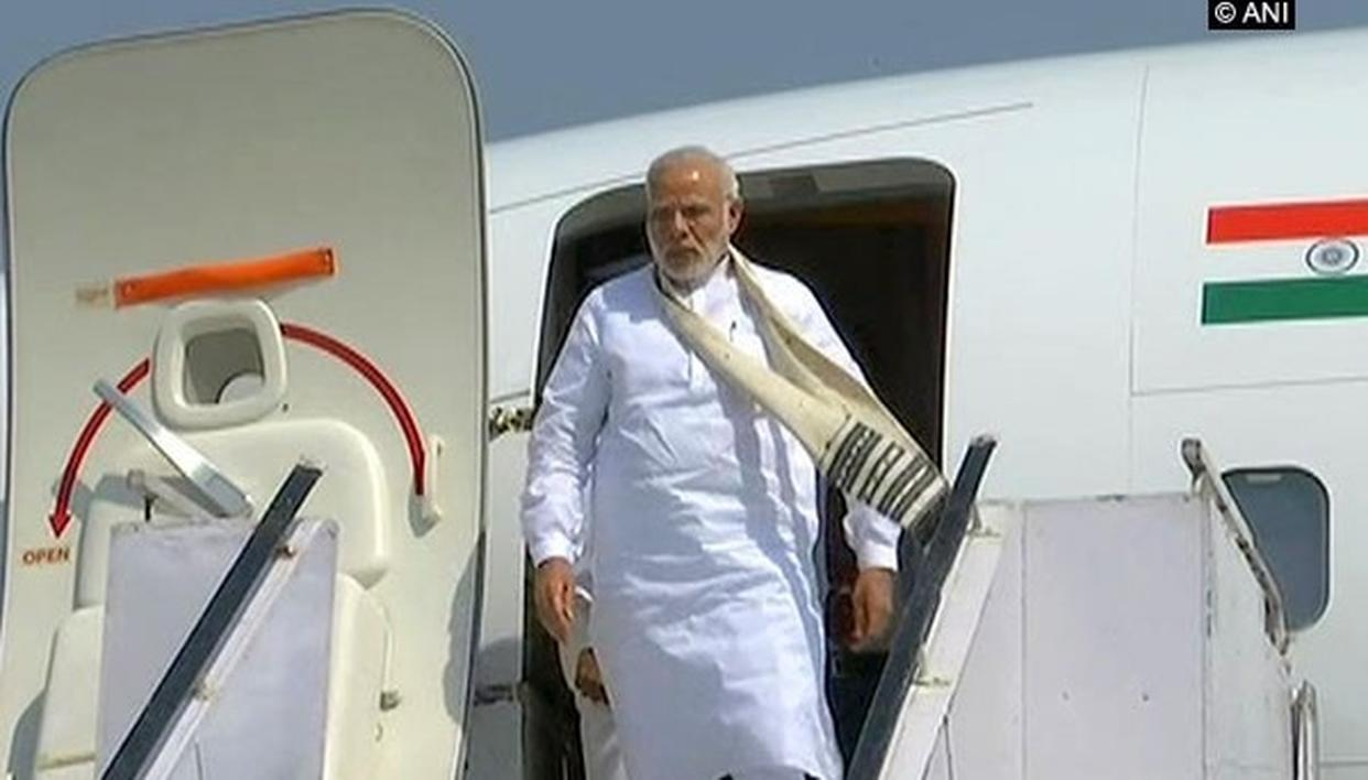 PM REACHES VARANASI