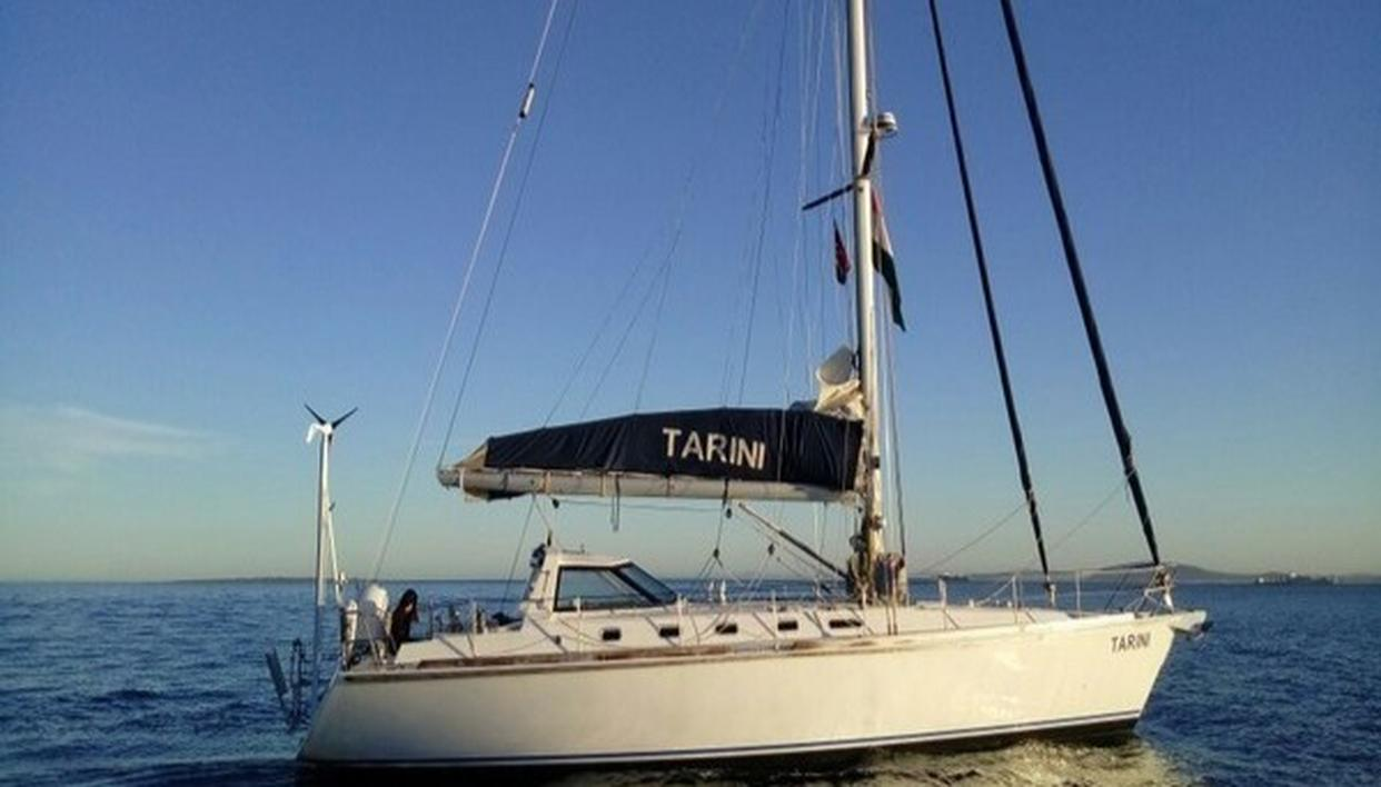 INSV TARINI DEPARTS FROM CAPE TOWN FOR GOA