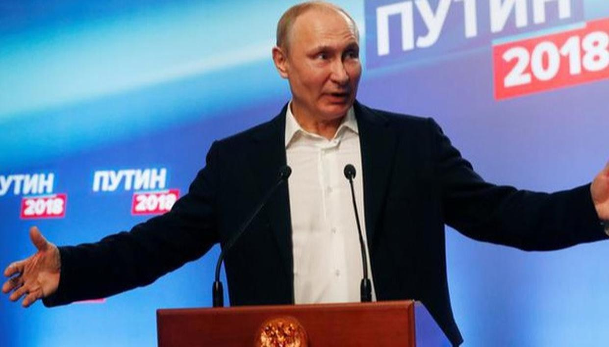 PUTIN WINS PRESIDENTIAL ELECTIONS