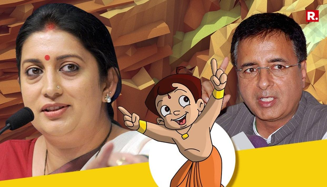 CONG RESPONDS TO 'CHHOTA BHEEM' ATTACK