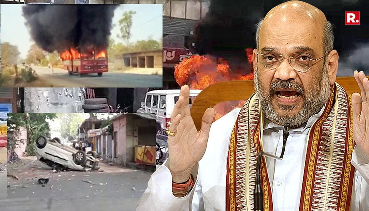 AMIT SHAH ASSURES SC/STs; BLASTS CONG