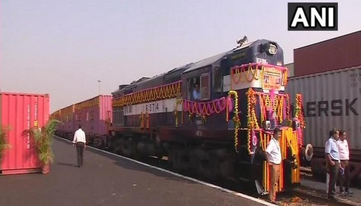 INDIA-BANGLADESH CONTAINER TRAIN FLAGGED OFF