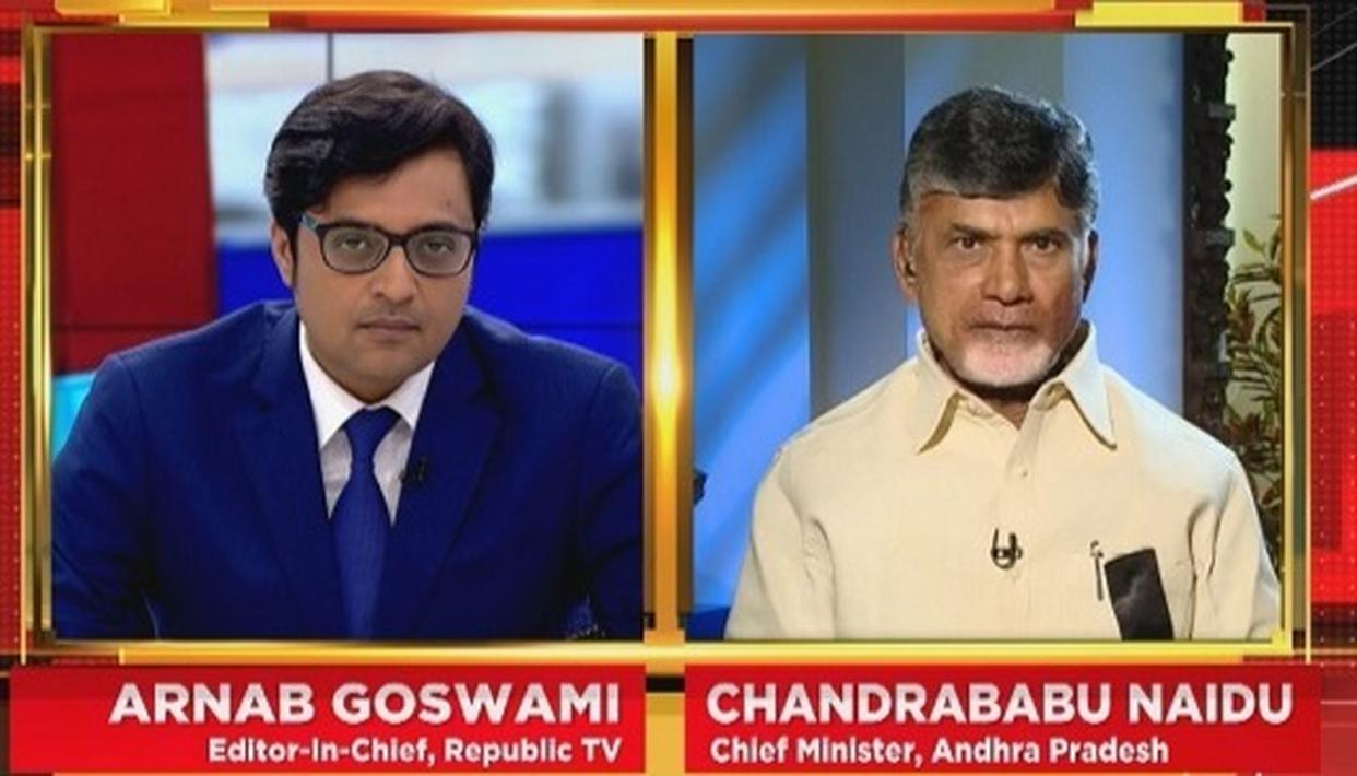 NAIDU SPEAKS TO ARNAB
