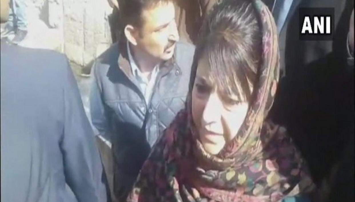 MEHBOOBA BLAMES 'EXTRA FORCE' FOR CIVILIAN DEATHS