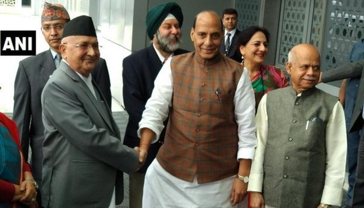 NEPAL PM ARRIVES IN INDIA
