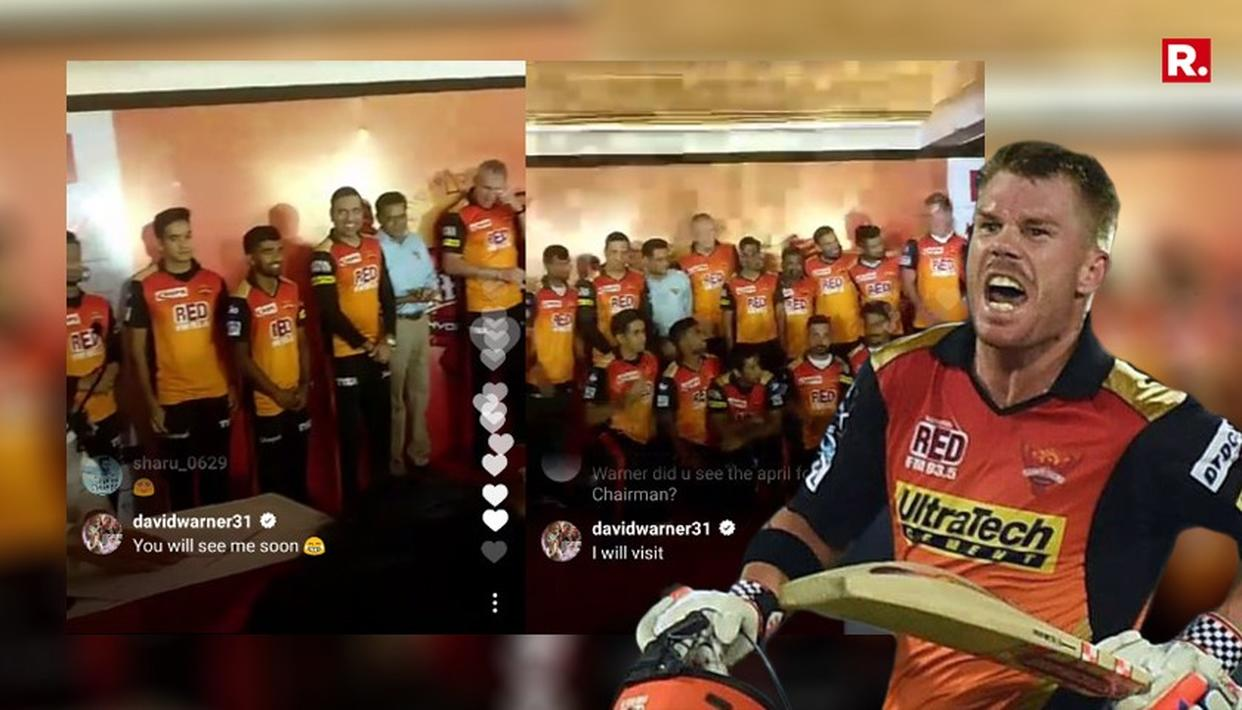 THIS IS WHAT DAVID WARNER COMMENTED ON SUNRISERS HYDERABAD'S INSTAGRAM LIVE
