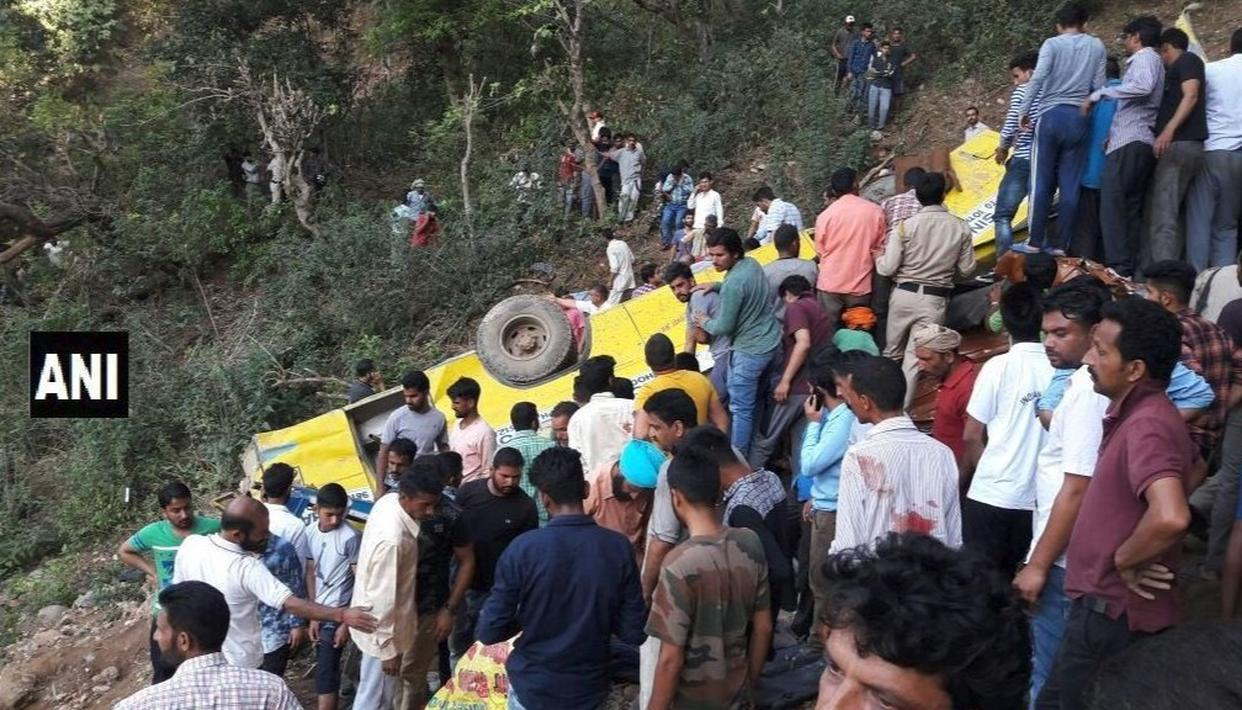 SCHOOL BUS FALLS INTO GORGE IN HP'S KANGRA