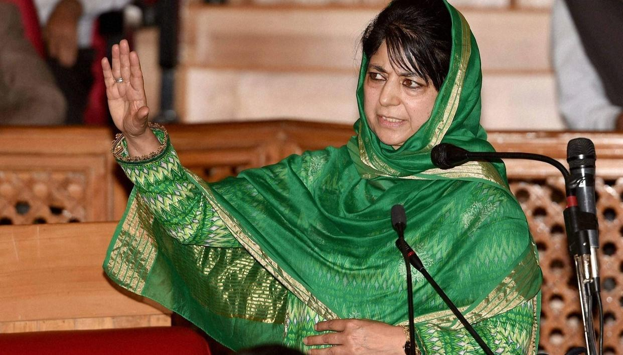 MEHBOOBA REACHES OUT TO BJP