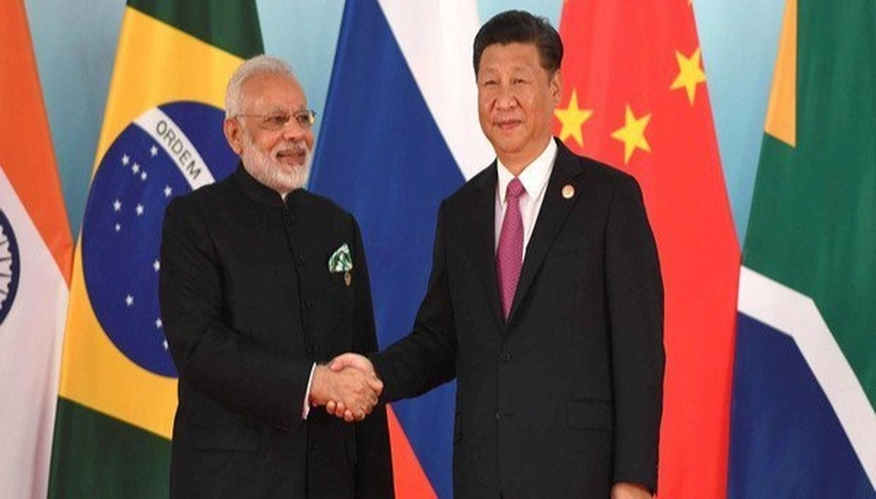 PM MODI PRESENTS CHINESE PRESIDENT XI JINPING WITH TWO PAINTINGS