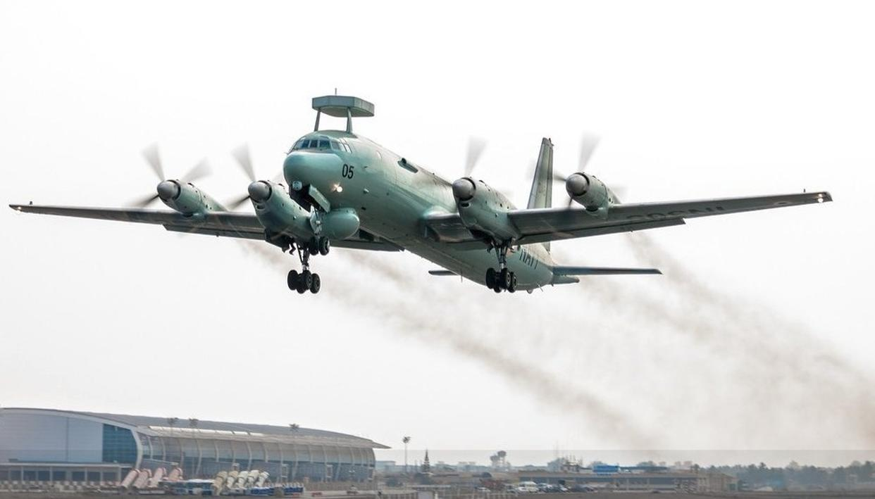 INDIAN NAVY'S IL38 MAKES CRASH LANDING IN RUSSIA