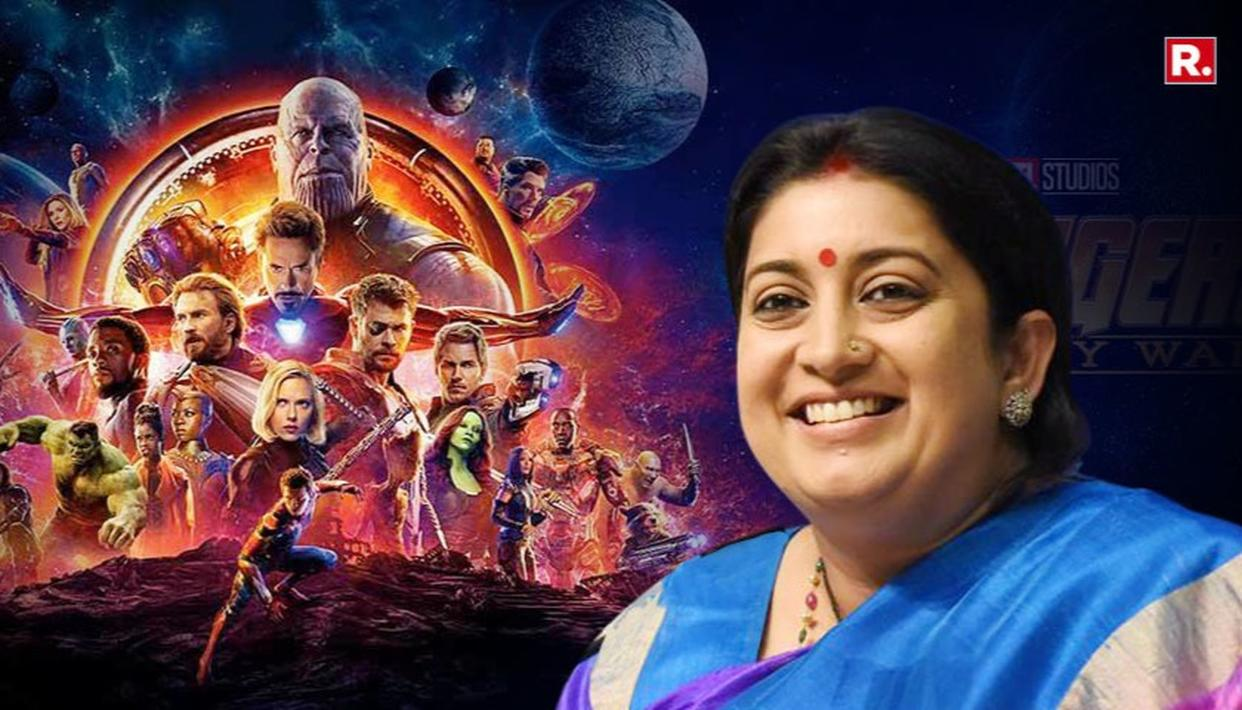 """COOLEST MINISTER"" SMRITI WATCHES AVENGERS"