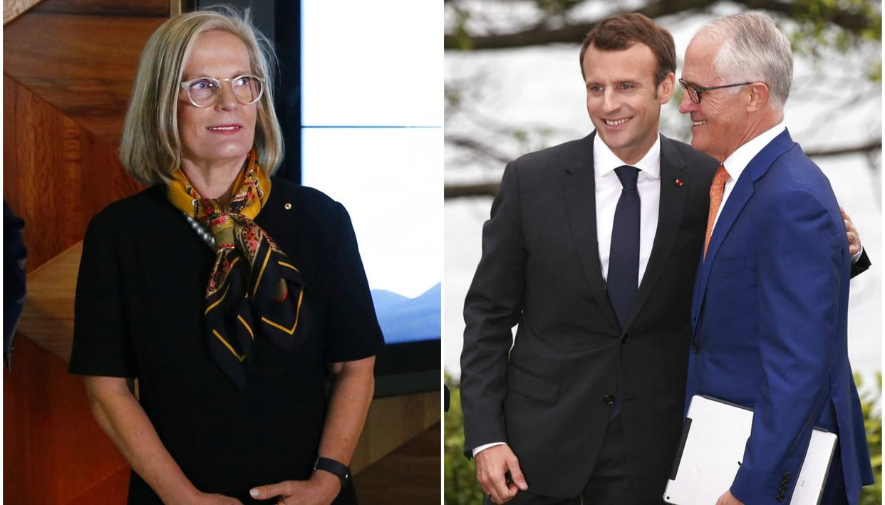 FRENCH PRESIDENT CALLS AUSTRALIAN PM'S WIFE 'DELICIOUS'