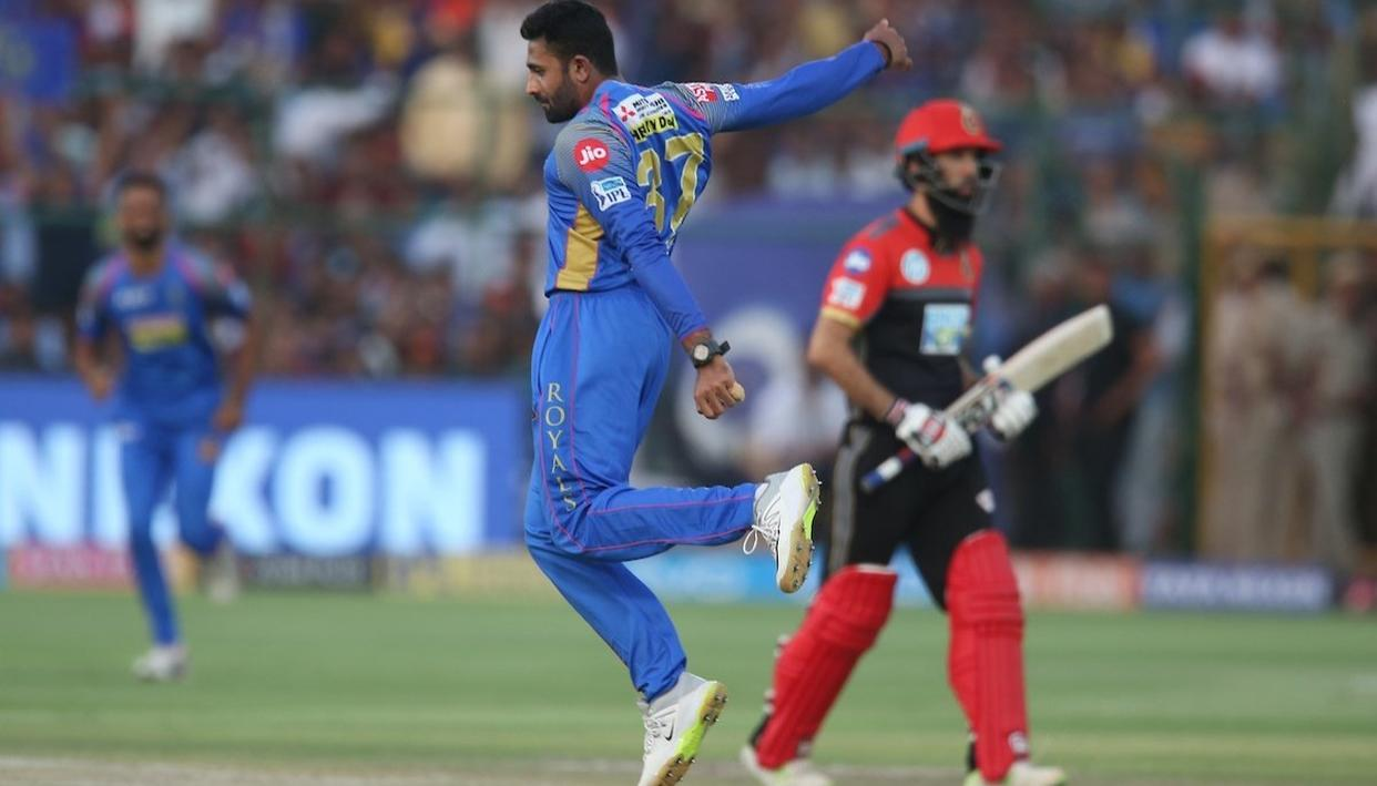 IPL 2018: GOPAL SPINS ROYALS TO VICTORY, SENDS KOHLI'S RCB OUT OF PLAY-OFFS EQUATION