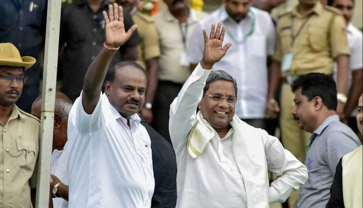 KUMARASWAMY WINS FLOOR TEST AFTER BJP MLAs WALK OUT