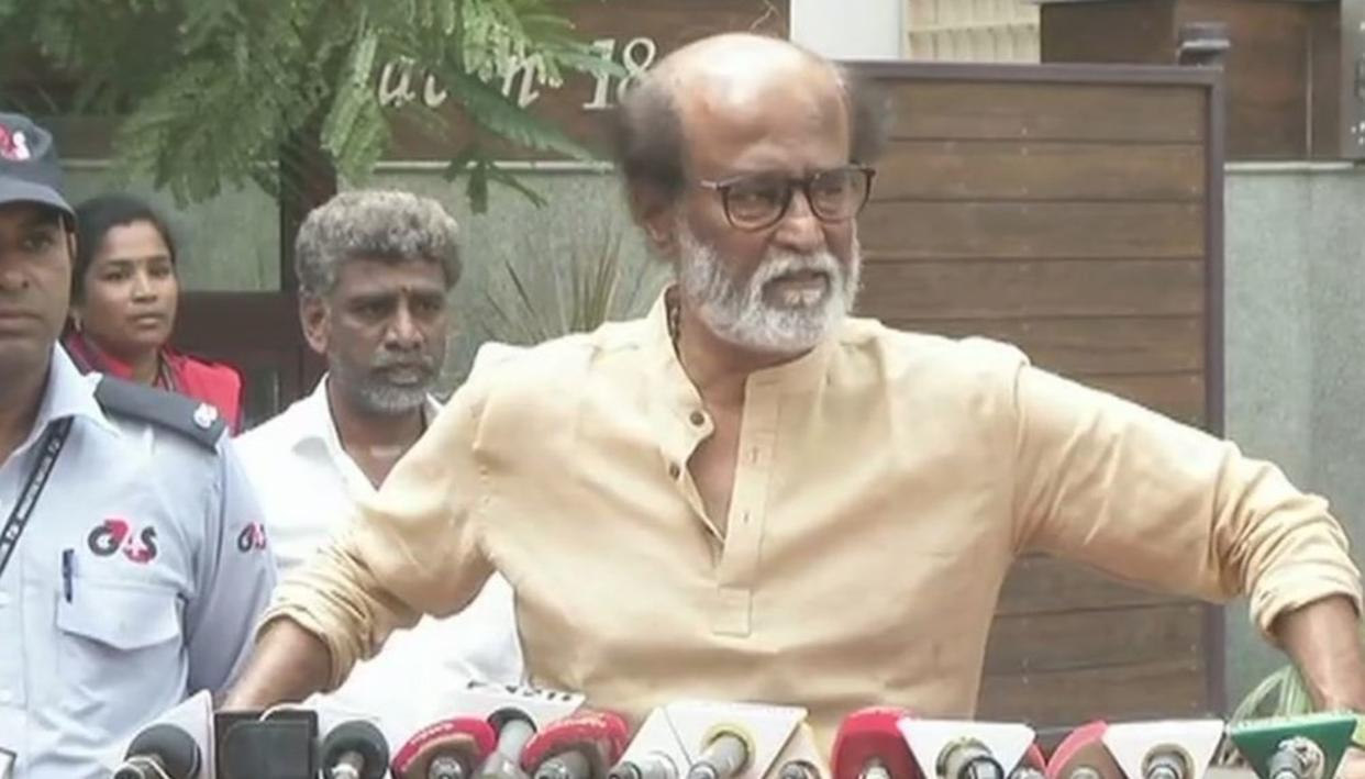 RAJINIKANTH EXPRESSES REGRET FOR LOSING COOL