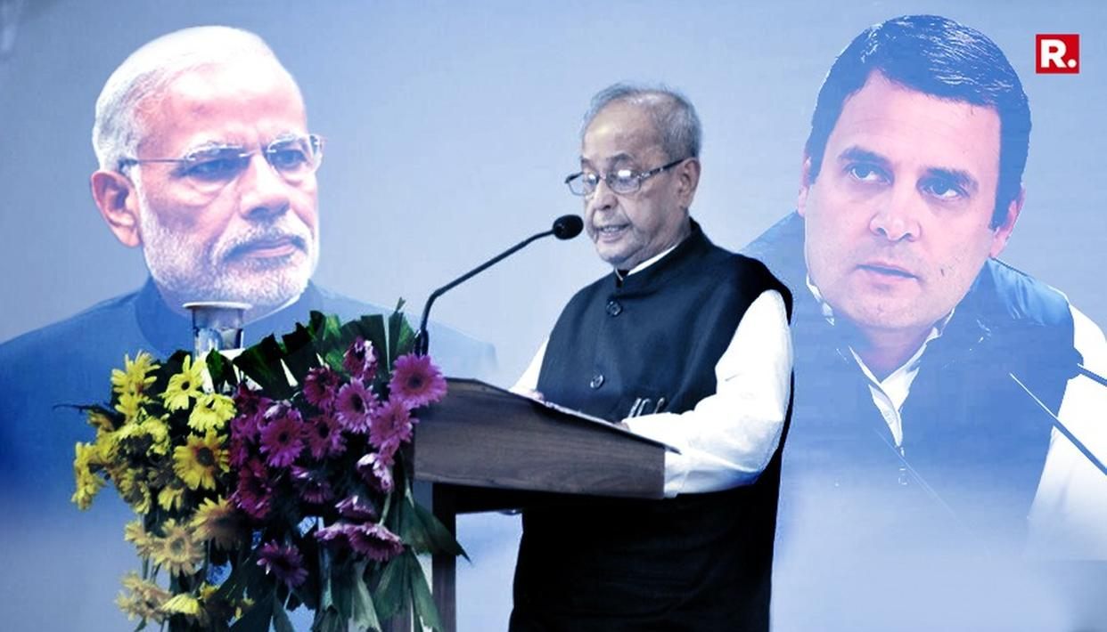 PRANAB'S SPEECH RENDERS CONGRESS' 2019 NARRATIVE UNUSABLE