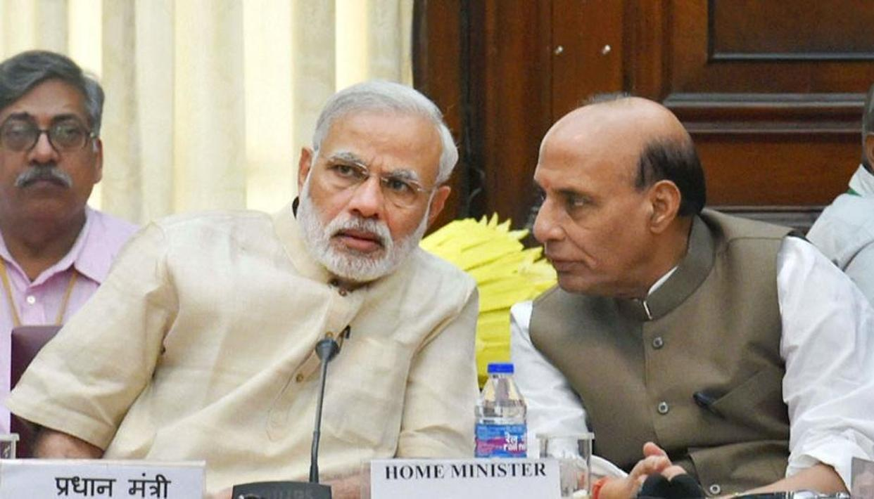 MAOISTS FIGHTING A LOSING BATTLE: RAJNATH ON MODI ASSASSINATION PLOT