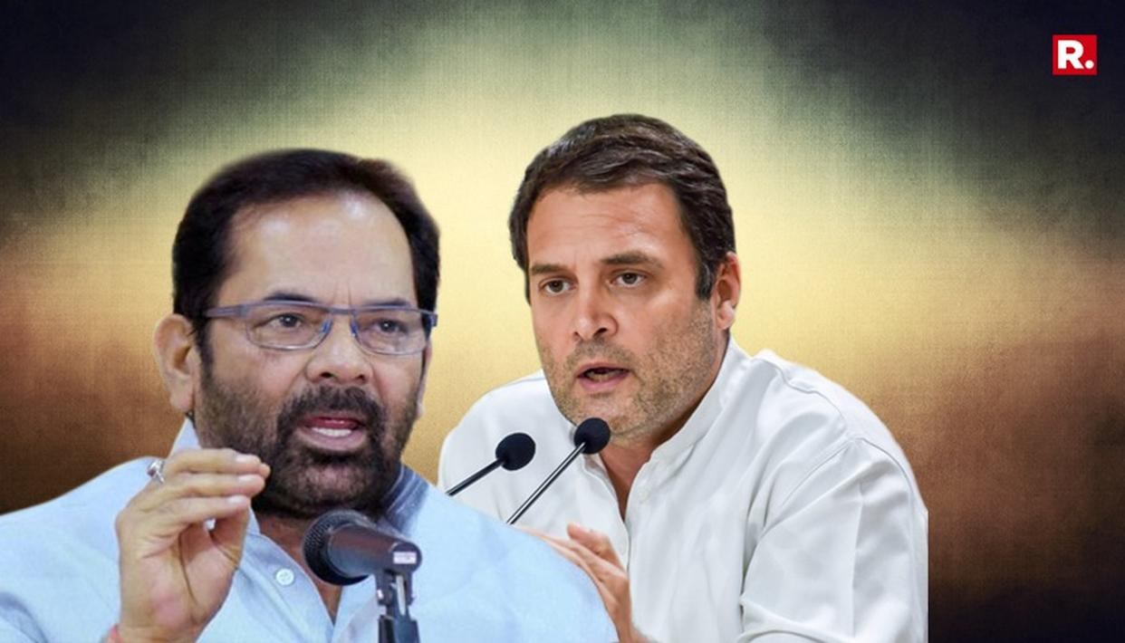 WATCH: NAQVI DOESN'T SPARE RAHUL ON 'BIZARRE' REMARK